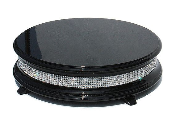 14 inch Piano Black Diamond Cake Stand by WeddingFads on Etsy