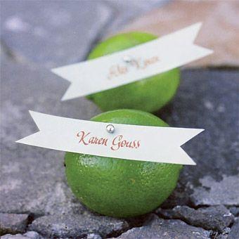 fruity place card idea, photo: Jesse Leake