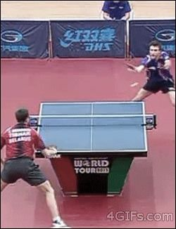 Winning at ping pong like a boss