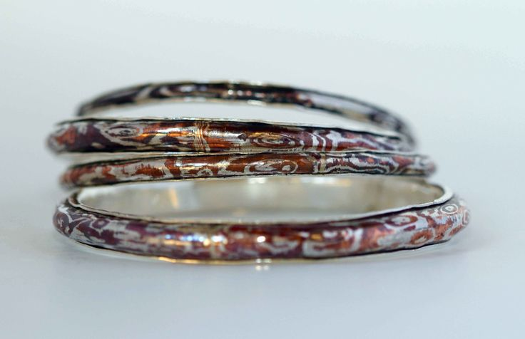 Jenny Whitmore creates unique jewellery influenced Etruscan & Byzantine eras, using age old techniques used by the ancient jewellers of Rome, Mokume Gane