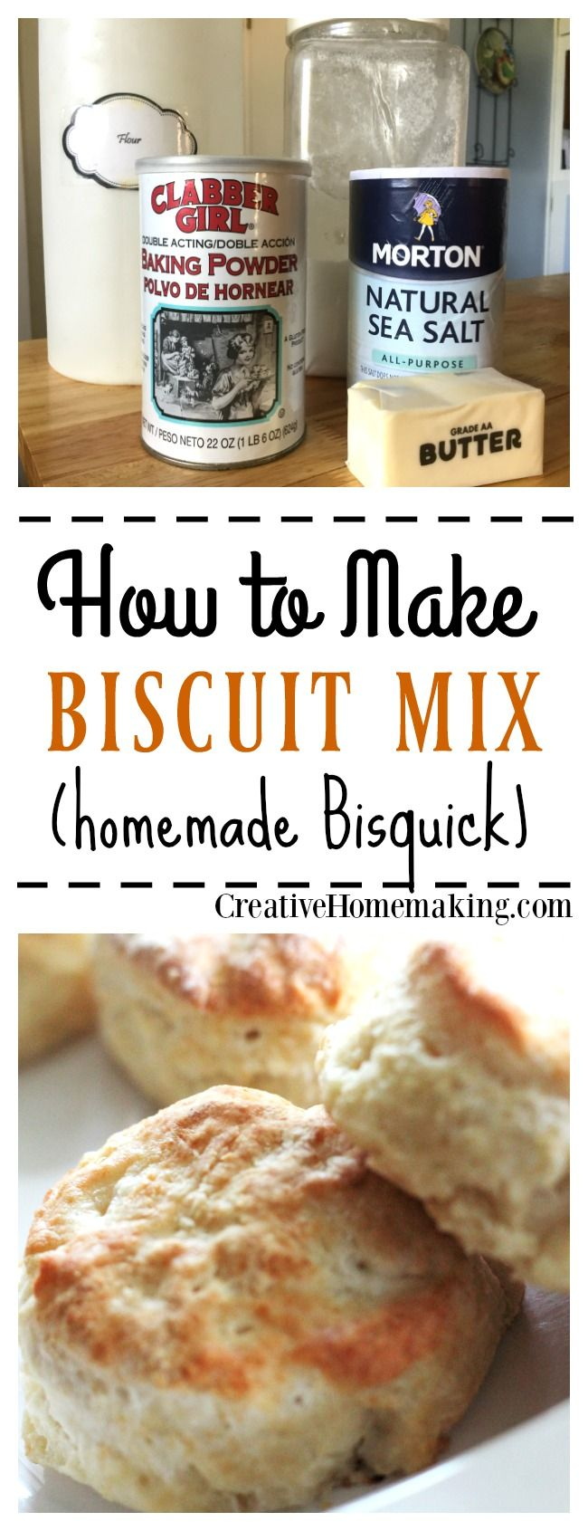 Homemade baking and biscuit mix to use in recipes that call for Bisquick. You can store it in the freezer for up to 6 months!
