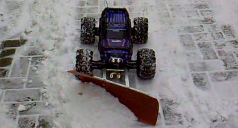 traxxas summit schneeschieber ganz automatisch per