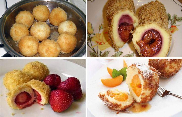 Galuste cu prune, caise, nectarine, visine sau capsuni (gomboti)