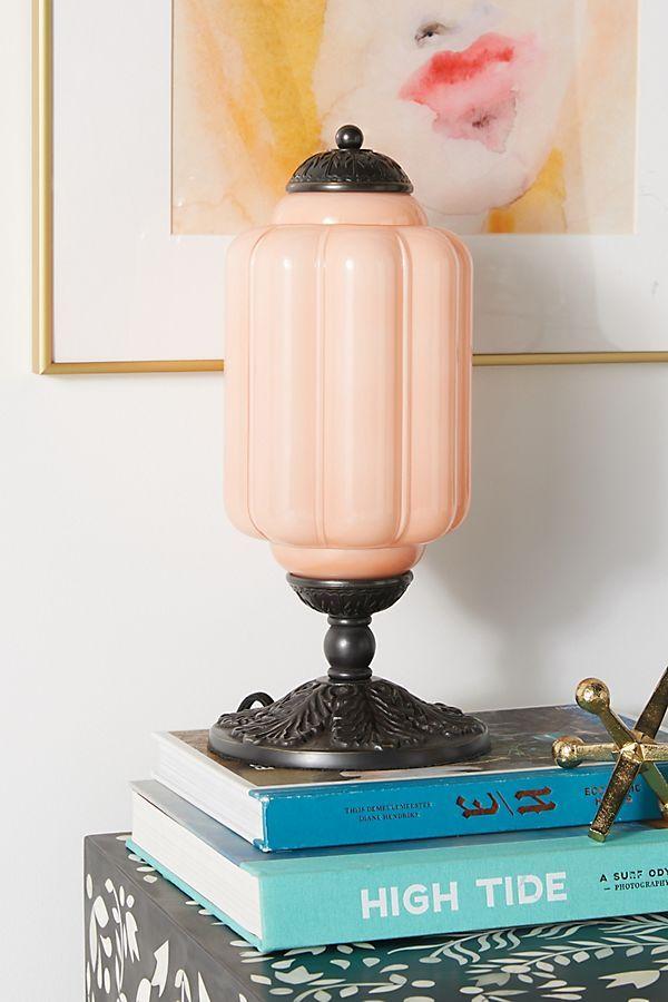 Eloise Table Lamp | Lamp, Table lamp, Milk glass lamp