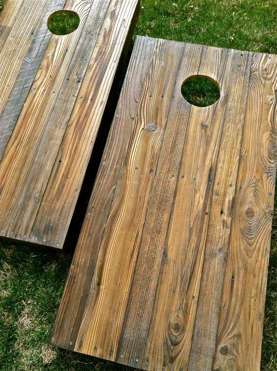First, I dig recycled stuff.  Second, I dig cornhole.  I worry that the uneven surface may affect play, but they look dang cool.