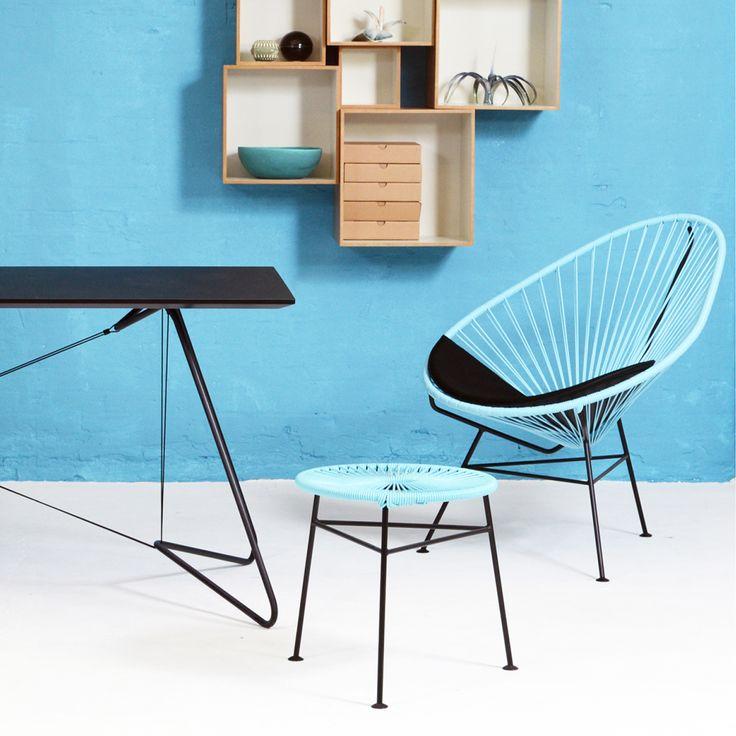 OK Designin kaunis ja alkuperäinen Acapulco-tuoli on nimetty legendaarisen Tyynen valtameren rannalla sijaitsevan Meksikolaisen kaupungin mukaan. Tuolin muotoilussa näkyy inspiraation lähteenä käytetyt Tyynen valtameren aallot sekä eleganssi, joka on houkutellut useita Hollywoodin tähtiä kaupunkiin.