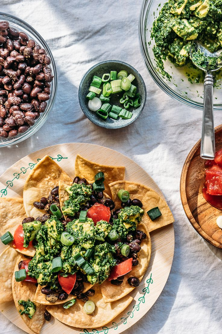 Nachos w/ Pickled Chili Chimichurri | Faring Well | #vegan #recipes #mmlocal