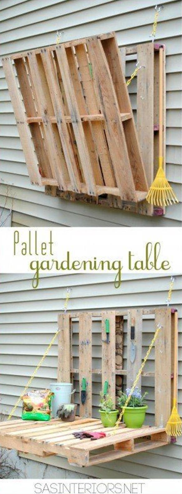 DIY Woodworking Ideas A handy table at just the right hight for planting and examining seeds and potti...