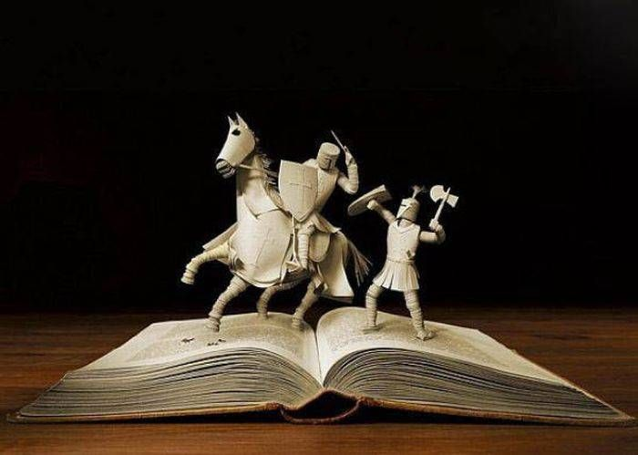 3d art made from old books | Awesome sculptures made from books…