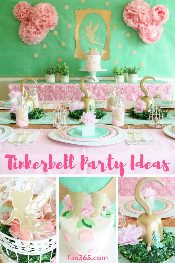 Kitchen, Dining & Bar Bright 12 Tinkerbell Never Grow Up Neverland Glitter Birthday Dessert Cupcake Topper
