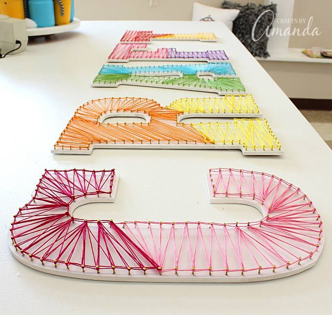 String Art: How to Make Colorful Wall Letters