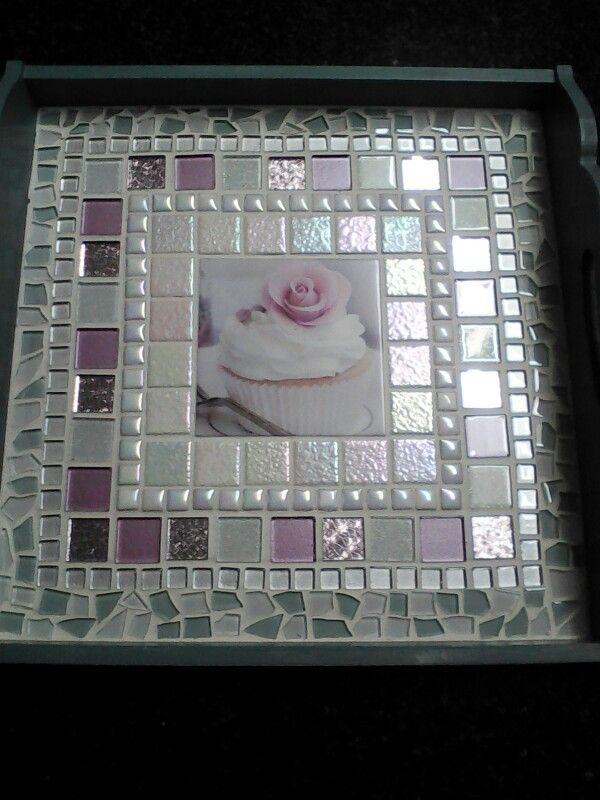 Mosaic cupcake tray