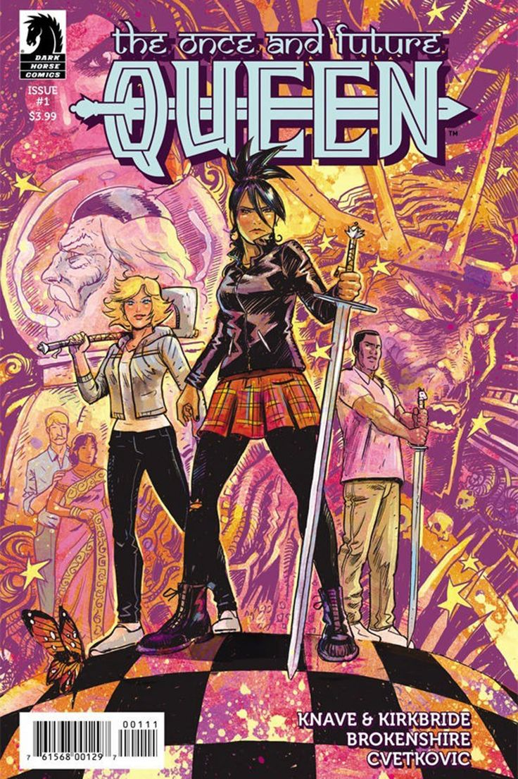 Behind the Myth Busting and Diversity Building on 'The Once and Future Queen'  The creators of Dark Horse Comics' new fantasy series explain why it's time a woman took over for King Arthur.  read more