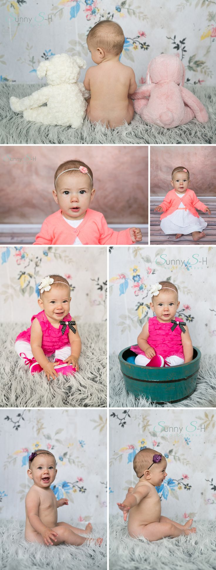 6 month baby stages photo shoot for a girl.  In home and natural light photography.  Sunny S-H Photography - Winnipeg