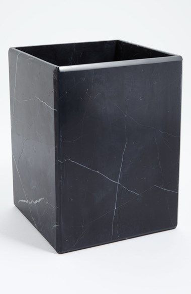 Waterworks Studio 'Luna' Black Marble Wastebasket (Online Only) | Nordstrom