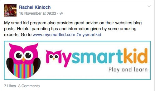 Screenshot from one of our #Mysmartkid drivers.
