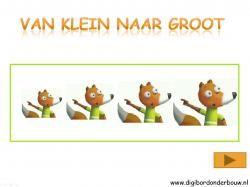 Digibordles Ritseldans en notentaart. Van klein naar groot. http://digibordonderbouw.nl/index.php/themas/herfst/ritseldans