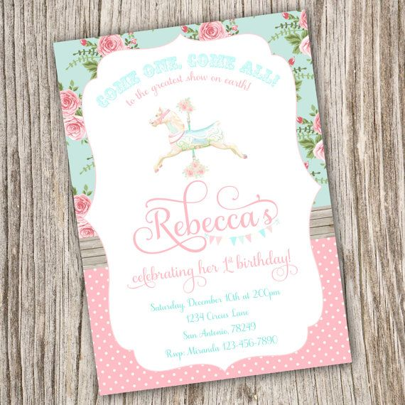 386 best images about carousel party – Carousel Party Invitations