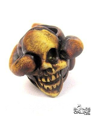 INCA POLY RESIN FACE PIPE- SKULL