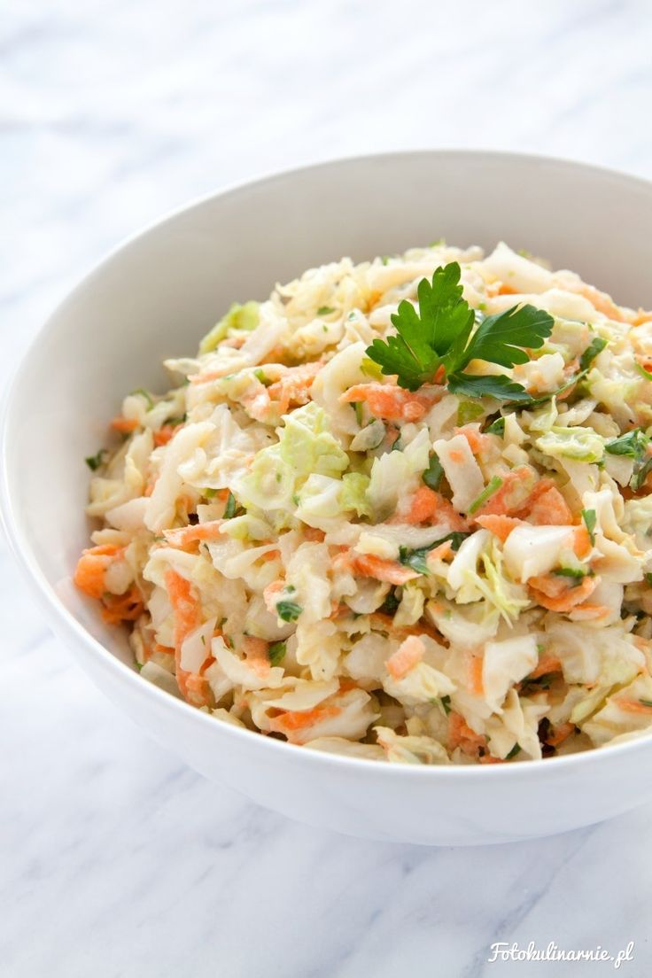 Cabbage, carrot apple and parsley healthy raw salad. New fit Coleslaw!