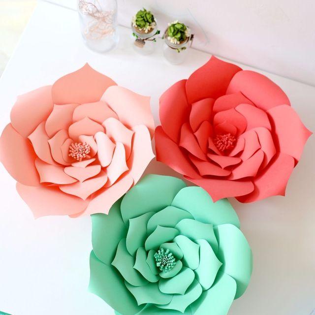 Huge flowers (40 cm in diameter) for wedding decoration, birthday or photo zone   Огромные цветы (40 см в диаметре) для украшения свадьбы, дня рождения или фотозоны