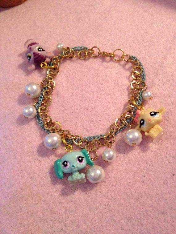 Littlest Pet Shop Tiny Charms And Pearls Gold Chain by zefora