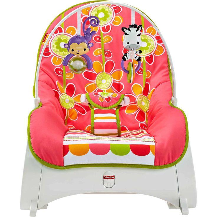 Infant Toddler Rocker Baby Sleeper Rocking Chair Floral Confetti Fisher Price  #FisherPrice