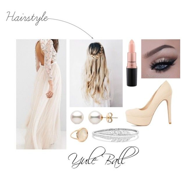 """""""Yule Ball"""" by ateliana on Polyvore featuring Needle & Thread, Ginette NY, Stephen Webster, Charlotte Russe and MAC Cosmetics"""
