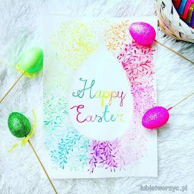 Wielkanocna praca plastyczna malowana akwarelą ;)   #Wielkanoc #easter #święta #jajko #jajka #egg #eggs #diy #zróbtosam #handmade #craft #crafts #malować #malowanie #painting #akwarele #aquarelle #watercolor #watercolours #paint #image #picture #tęcza #rainbow #colours #kolory #easteregg #eastereggs #happyeaster
