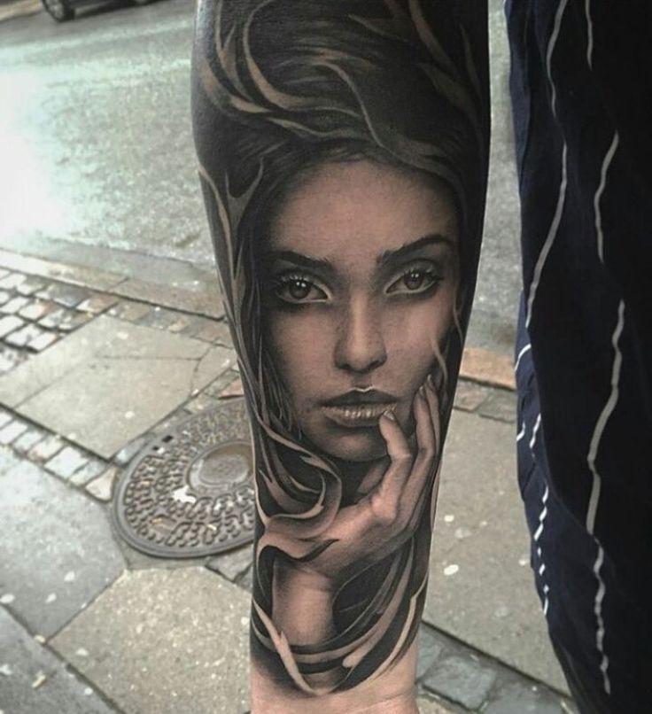 Tattoo Designs Woman Portrait: Best 25+ Girl Face Tattoo Ideas On Pinterest