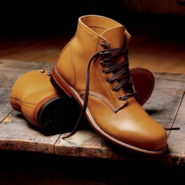 Custom Handmade Men Round Style Real Tan Leather Ankle Boots, Men Leather boots - Boots