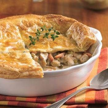 Chicken Pot Pie with Herb and Cheddar Crust recipe from Betty Crocker
