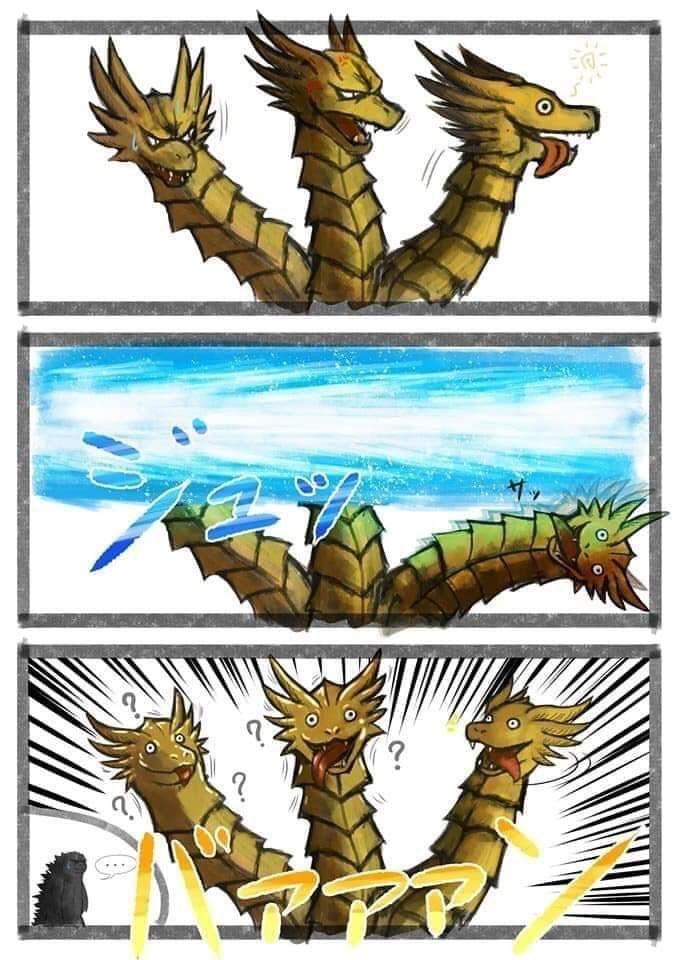 Evaded   Godzilla funny, Godzilla comics, Godzilla vs king ...