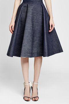 CALVIN KLEIN 205W39NYC - Denim Midi Skirt   STYLEBOP