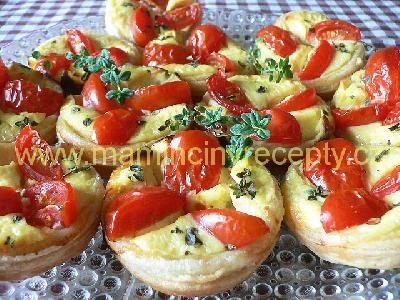 Sýrové košíčky s rajčátky