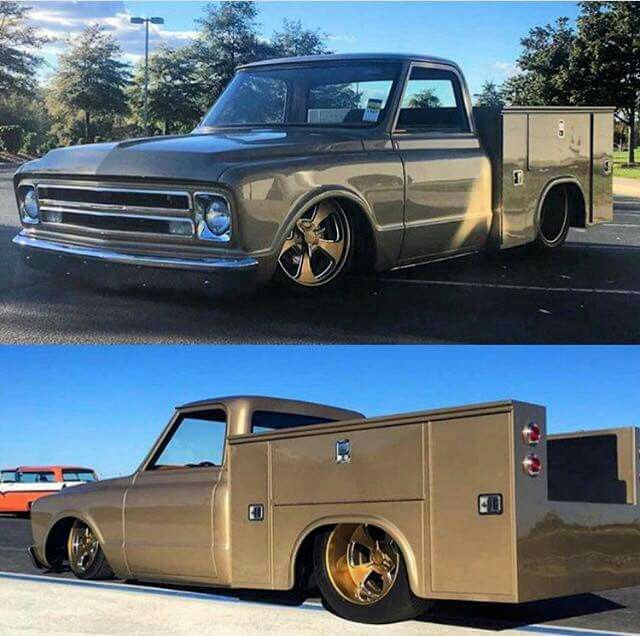 Chevy service truck..
