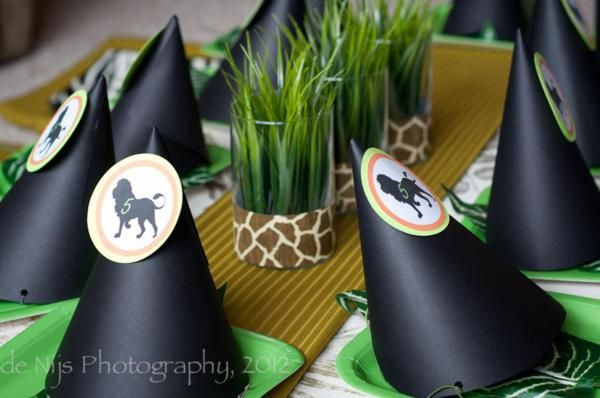 Glasses with ribbon and grass... decor for the table