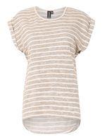 Womens *Izabel London Beige T-Shirt- White