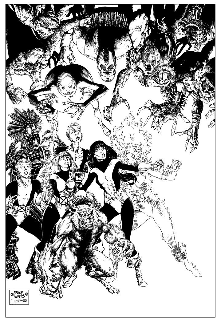 New Mutants by Art Adams.Adam Art, Comics Art, Arthuradam, Xmen, Art Adam, Comics Book, Marvel Comics, Arthur Adams, Mutant