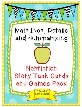 main idea way talking and game cards Day 1: i followed her lesson to a t i had a bag (main idea: baking brownies) and presented each item one at a time saving the detail that confirms the main idea for last, we discussed how it's important to read the entire paragraph before determining the main idea.