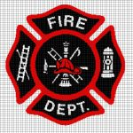 Fire Department Crochet Graphghan Pattern (Chart/Graph AND Row-by-Row Written Instructions)