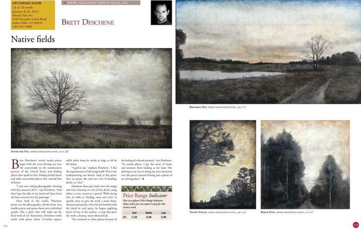 Article in American Art Collector about Brett Deschene's remarkable work featured at Mirada Fine Art gallery.