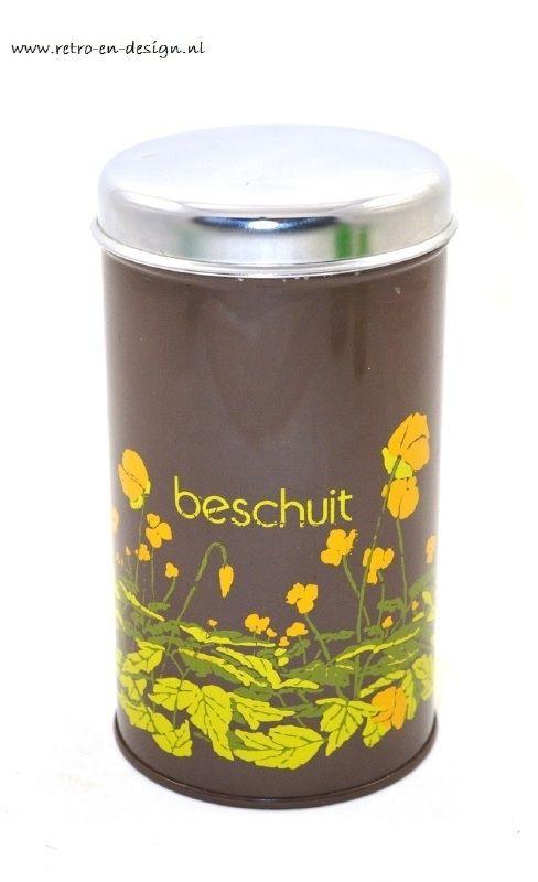 Brabantia beschuitbus, bruin
