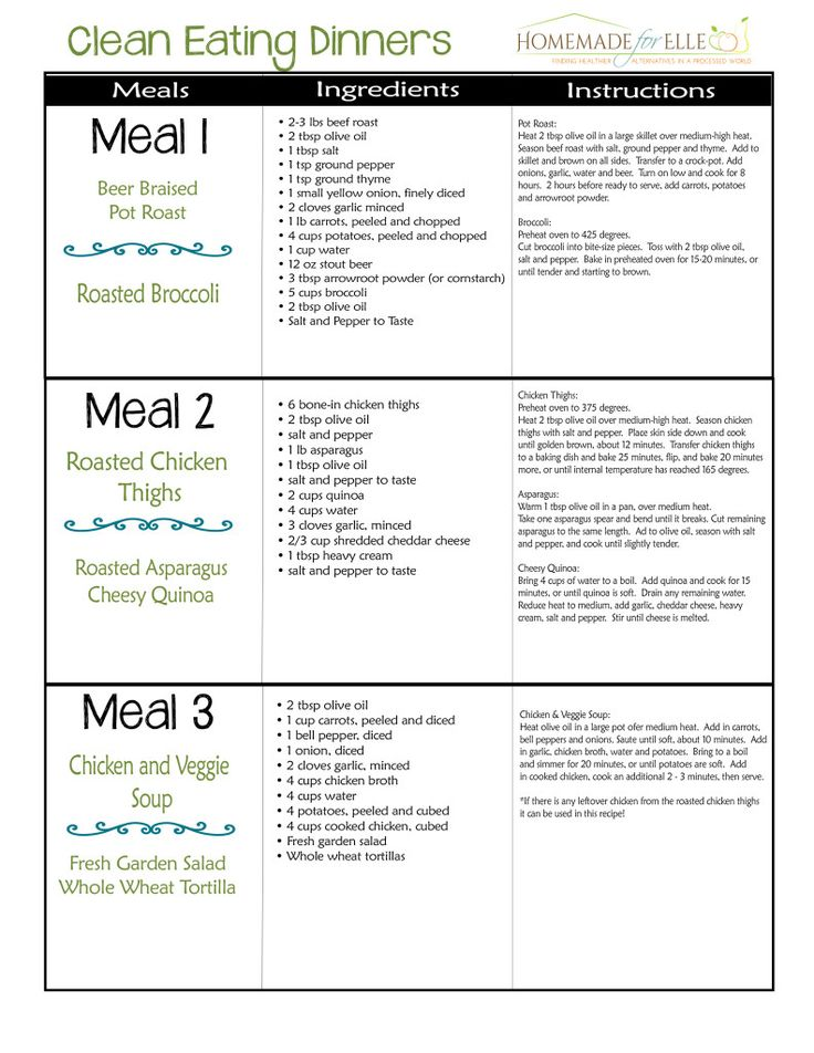 Best 25+ Clean eating meal plan ideas on Pinterest Clean meal - meal plans