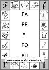 scheda di sillabe fafefifofu da collegare alla parola