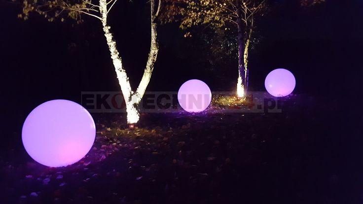 Świecące kule solarne RGB 4fundesign #ogród #ogrody