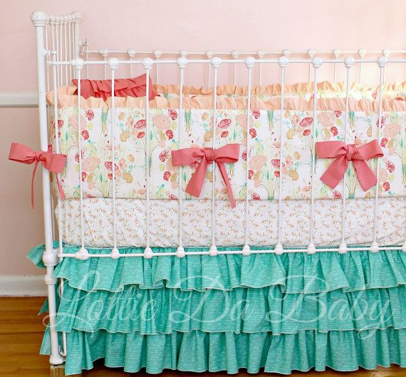 Hey, I found this really awesome Etsy listing at https://www.etsy.com/listing/178824773/reminisce-baby-girl-crib-bedding-set