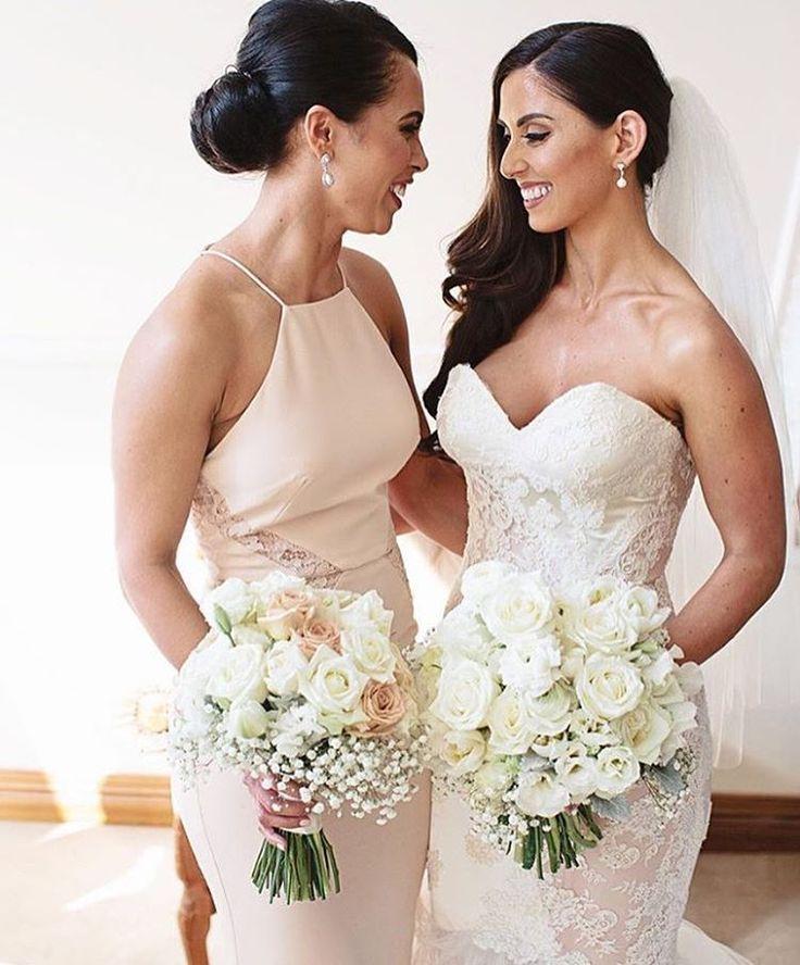 Stunning bridesmaid in our Isabella Dress #whiterunway