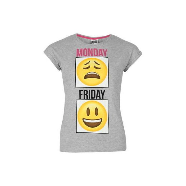Emoji Ladies T Shirt ($7.64) ❤ liked on Polyvore featuring tops and t-shirts