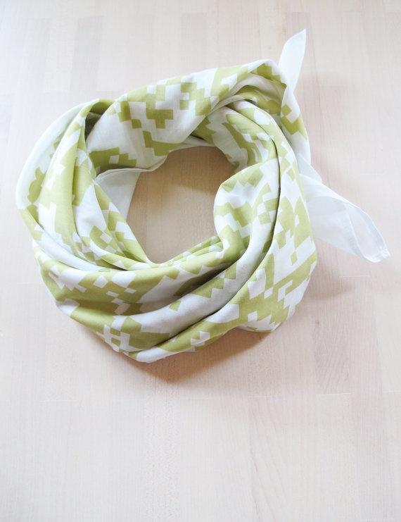 handprinted foulard,  starfruit, 90cm x 90cm